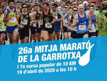 Inscripcions obertes per a la 26a edició de la Mitja Marató de la Garrotxa i la Cursa Popular de 10 KM