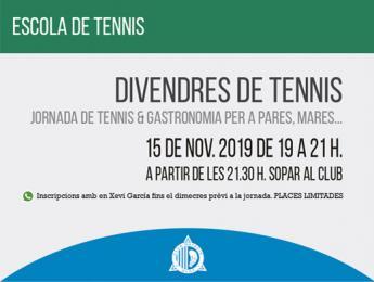 Comencen els divendres de tennis amb una jornada que barreja l'esport i la gastronomia al Club