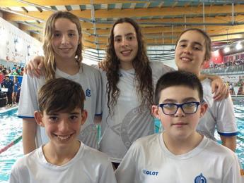 Bona actuació dels nedadors alevins al Campionat de Catalunya d'hivern a Manresa