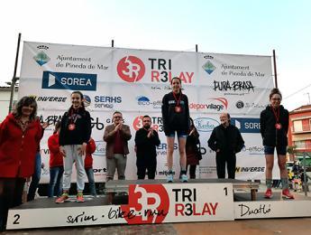Nina Roig guanya la IV Trirelay Duatló Jove de Pineda de Mar en la categoria infantil femenina