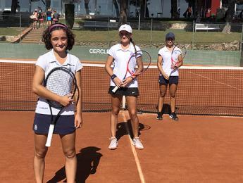Les tennistes del cadet femení acaben entre els 4 millors equips catalans de la temporada 2019-2020 de la Lliga Catalana