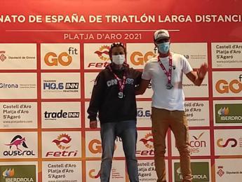 Maribel Morillas campiona d'Espanya de triatló de llarga distància en la categoria 50-54 femenina