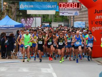 Bona acollida de la 25a Mitja Marató de La Garrotxa