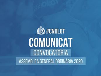 Convocatòria Assemblea General Ordinària 2020