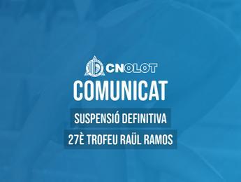 Suspensió definitiva del 27è Trofeu Raül Ramos de natació