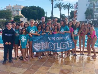 Fantàstica experiència per als joves nedadors del CNO desplaçats a Eivissa