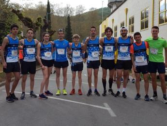Els atletes del CNO a la 25a Mitja Marató de La Garrotxa