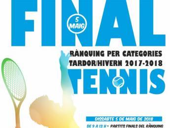 El 5 de maig, finals i lliurament de trofeus del Rànquing de de tennis Tardor Hivern 2018