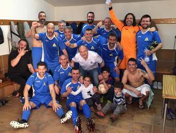 Victòria de 3 a 1 pels veterans de futbol contra el Garrotxa VT
