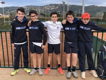 Una jornada de Lliga Catalana fluixa pels joves de la secció de tennis