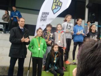 XXI Cros de Girona: 25 atletes del CNO, trofeu per Josep M Roura i medalla per Coralí Jou