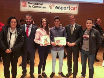 Àlvaro Ruiz i Clara Aulinas premiats a la gala de Reconeixement Joves Promeses de l'Esport Gironí